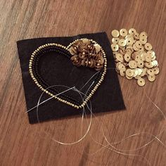 63 Ideas Embroidery Ideas Embellishments Sequins - Her Crochet Bead Embroidery Tutorial, Bead Embroidery Patterns, Embroidery On Clothes, Bead Embroidery Jewelry, Embroidery Fashion, Hand Embroidery Designs, Beaded Embroidery, Embroidery Stitches, Beaded Brooch