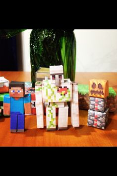 Minecraft paper crafts, decorations, party, birthday