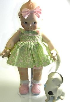 Kewpie Dolls Price Guide and Photo Gallery: Kewpie and Doodle Dog by Charisma Dolls Old Dolls, Antique Dolls, Vintage Dolls, Brian Froud, Vladimir Kush, Marie Osmond, Carl Larsson, Ashton Drake, Thomas Kinkade