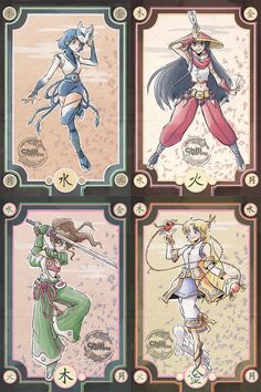 Fan art of Sailor Moon Scouts dressed up as Samurai  This is a set of 5 mini prints of the following Sailor Scouts Sailor Moon, Sailor Mercury, Sailor Mars, Sailor Jupiter and Sailor Venus  Printed in White Gloss paper of 170 g/m2 Measurements of the prints are 11.5cm wide by 17.3cm height.  Watermark is not in final product as you can see it in the primary picture.  Signature option available, just send us a note! :)