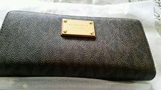 Michael Michael Kors Jet Set Travel Continental Logo Brown Zip Around Wallet NWT #MichaelKors #wallet