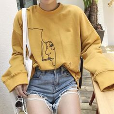 Smoking Girl Sweatshirt  boogzel apparel