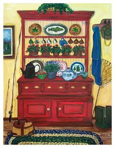 """Tahoe Red Hutch"""" by Suzanne Etienne"""