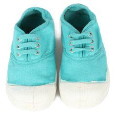 Bensimon Kids Tennis Shoe Lace Up, Lagon :: Bohemia