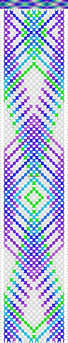 Normal Friendship Bracelet Pattern #8238 - BraceletBook.com