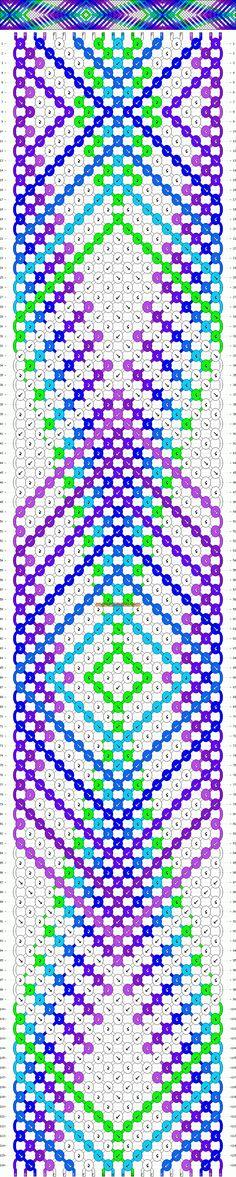 Normal Friendship Bracelet Pattern #8238 - BraceletBook.com