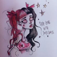A little sketch of Mel inspired by Lucas B Davis 💖💀 What do you think so. Melanie Martinez Fan Art, Melanie Martinez Drawings, Tim Burton Art Style, Tim Burton Drawings, Arte Disney, Girl Sketch, Drawing Challenge, Vernon, Cute Drawings