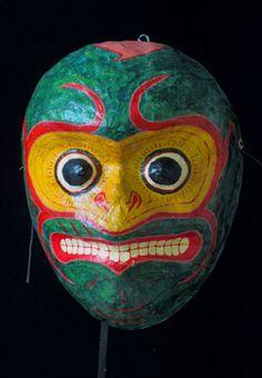 Hanuman Monkey mask, Indian folk art, Southern India