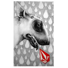 little #Bullterrier for Volcom by bestie666 on @deviantART