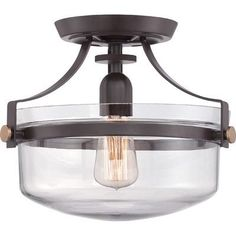 You'll love the Uptown Penn Station 1 Light Semi Flush Mount at Wayfair - Great Deals on all Home Improvement products with Free Shipping on most stuff, even the big stuff.