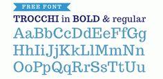 Free font: Trocchi