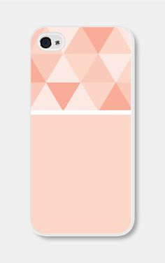 Geometric Phone Case Ombre Peach Color Block