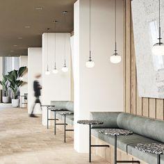 art deco home decor Restaurant Interior Design, Retail Interior, Commercial Interior Design, Office Interior Design, Commercial Interiors, Commercial Furniture, Note Design Studio, Design Café, Cafe Design