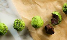 Green Tea Dark Chocolate Truffles