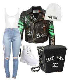 """""""Untitled #57"""" by kaibari on Polyvore featuring Faith Connexion, Wolford, Timberland and Chanel"""