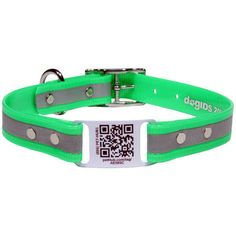 Reflective ScruffTag QR Code Dog Collars - Great way for your dog to stay safe and be reunited with you if they're lost! $34 at www.dogids.com