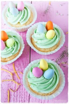 Easter Cupcake Ideas: Delicious and adorable Easter Cupcake Ideas featuring chicks, bunnies, and more!