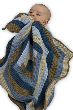Free knitting pattern: Log Cabin Baby Blanket by Mary Beth Fisher for Cascade Yarns Knitted Afghans, Knitted Baby Blankets, Baby Girl Blankets, Crochet Blanket Patterns, Baby Knitting Patterns, Baby Blanket Crochet, Baby Patterns, Knitting Yarn, Free Knitting