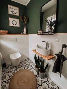 Toilet And Bathroom Design, Small Toilet Room, Bathroom Interior Design, Guest Toilet, Bathroom Designs, Bathroom Ideas, Small Shower Room, Cozy Bathroom, Bathroom Vintage