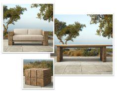 utemöbler - soffa och bord