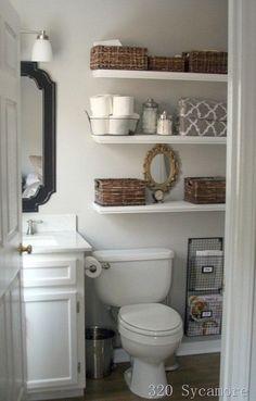 8 Genius Small Bathroom Ideas for Storage | Arts and Classy Via 320 Sycamore