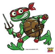 Ninja Turtle for Toy War...awe reminds me of my JohnnyBub!!