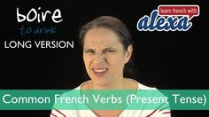 Boire (to drink) — Present Tense (French verbs conjugated by Learn French With Alexa) French Verbs, French Phrases, How To Speak French, Learn French, French Language Basics, Present Tense, French Resources, French History, French Teacher