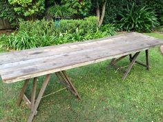 #163 Rustic Banquet Table