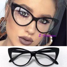 c2cd409b9332f armação gatinho cat eye - óculos importado- retrô- preto Oculos De Grau  Preto