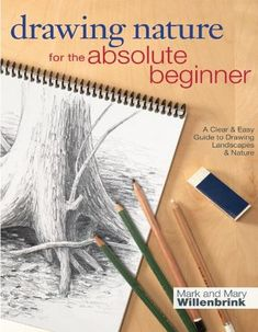 Book Drawing, Nature Drawing, Drawing Lessons, Drawing Techniques, Drawing Tips, Drawing Sketches, Painting & Drawing, Basic Drawing, Drawing Ideas