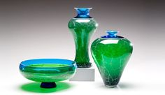 Sonja blomdahl glass vessel sold at rago 39 s february 2012 Silkwood glass