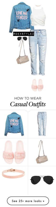 """""""CASUAL COLLECTION"""" by roexstylez89 on Polyvore featuring High Heels Suicide, H&M, Givenchy and Ray-Ban"""