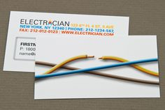 31 best business cards for electricians electrical services images business card 4 electrician guzman electric company in the works colourmoves