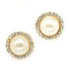 Bridal Wedding Jewelry Crystal Rhinestone Pearl Round Stud Fashion Earrings Gold Accessoriesforever,http://www.amazon.com/dp/B00D8KQHC4/ref=cm_sw_r_pi_dp_RNs8rb0XM4QFTMD1