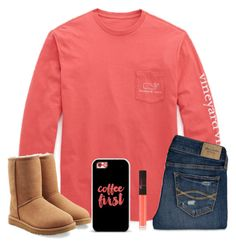 """Preppy Lovin"" by theblonde07 ❤ liked on Polyvore featuring Vineyard Vines, Abercrombie & Fitch, UGG Australia, NARS Cosmetics, Casetify, women's clothing, women's fashion, women, female and woman"