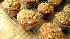 Oatmeal Raisin Banana Muffins - I used c brown sugar. Baked mini muffins for 13 minutes. They were soo good! Oatmeal Raisin Muffins, Banana Oat Muffins, Banana Breakfast, Mini Muffins, Food Cakes, Muffin Recipes, Cake Recipes, Simple Muffin Recipe, Baking Muffins