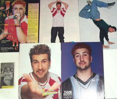 JOEY FATONE - NSync, Bye Bye Bye, It's Gonna Be Me, Music Of My Heart - Color Clippings, Articles, Pin-Ups for Scrapbooking