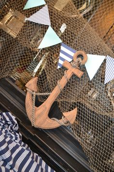 """Ahoy! It's a Boy!"" Nautical Baby Shower Ideas - projectnursery.com"