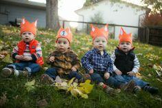 raw peanuts: A Fox-Themed First Birthday. I love the little crowns and plaid shirts!