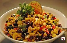 Black Bean Corn & Mango Salad | James & Everett Veggie Recipes, Appetizer Recipes, Salad Recipes, Dinner Recipes, Healthy Recipes, Appetizers, Veggie Meals, Veggie Dishes, Free Recipes
