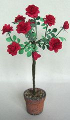FLOWER KIT Standard Red Heritage Rose  12th scale
