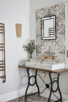 Using reclaimed or antique tiles in your home renovation project offers many benefits from practicality, durability and versatility to craftsmanship. Room Tiles, Wall Tiles, Concrete Tiles, Cement, Unique Tile, Color Tile, Colour, Bathroom Tile Designs, Encaustic Tile