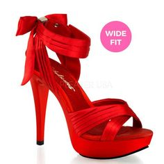 Red Satin Sexy Bridesmaid Bridal Heels Prom Salsa Dance Shoes Womans size 7 8 9 in Clothing, Shoes & Accessories,Women's Shoes,Heels Red High Heels, Stiletto Pumps, High Heels Stilettos, Shoes Heels, Platform Stilettos, Sexy Heels, Louboutin Shoes, Classy Heels, Lace Heels
