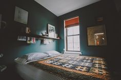 Paint your bedroom a deep, sexy color.
