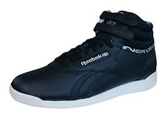 Reebok Classic Freestyle Hi Eden Womens Leather Sneakers / Shoes-Black-9