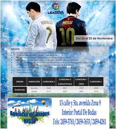 Con Agencia de viajes Nissi ¡¡¡Vive la emoción en el estadio Santiago Bernabéu!!! ¡¡¡Apoya a tu Fútbol club Favorito, Anímate y vívelo en persona!!! Interior de Portal de Bodas Guatemala