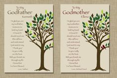 Godparents gift  Personalized gift for by KreationsbyMarilyn, $20.00