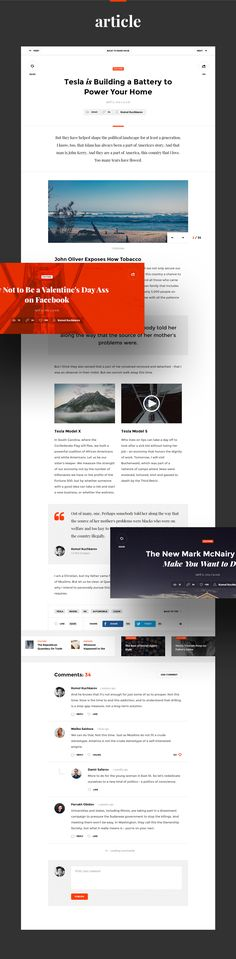 Snug. UI Kit design for modern Blog or News Magazine website conceptual work.