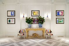 Artfully arranged space filled with the joy of Matisse Jazz cutout prints.   k