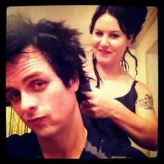 "I know this pic is old but I still think it's adorable! He posted it on instagram saying ""Baby's doing my hair"""